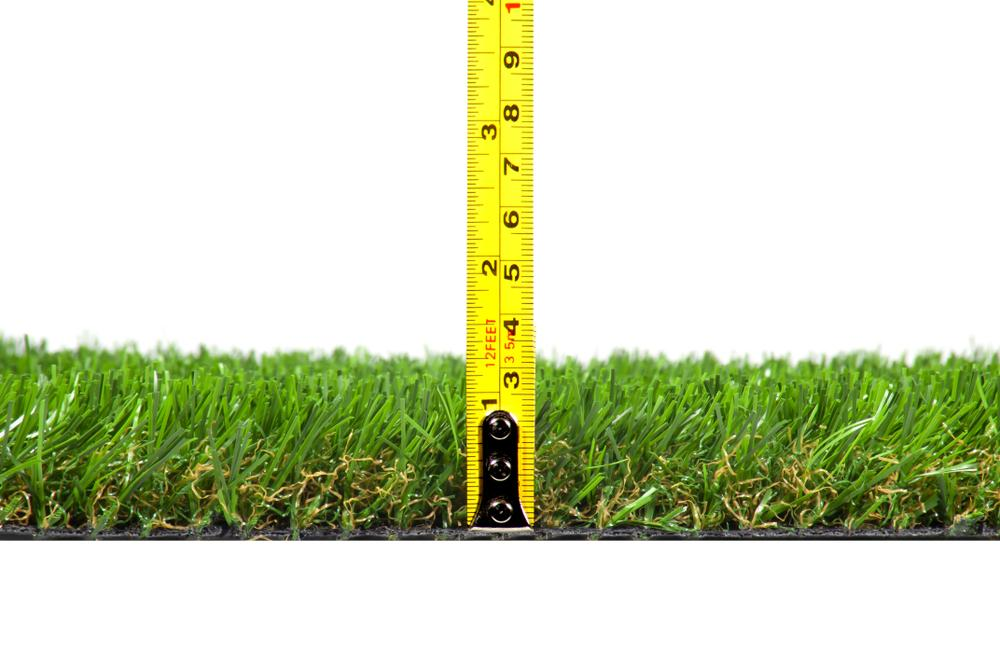 artificial grass on white background isolated